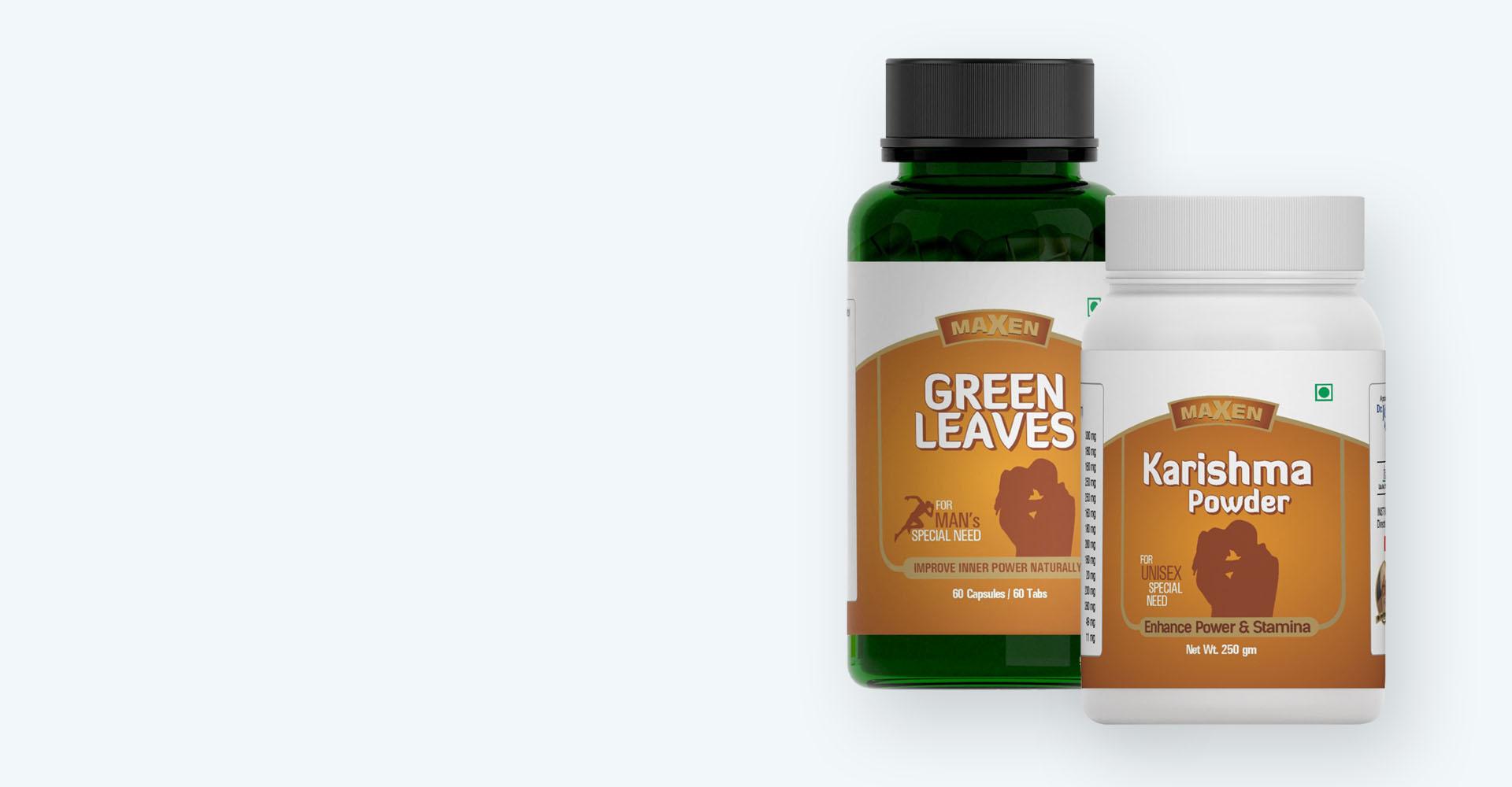 Green Leaves and <br> Karishma Powder